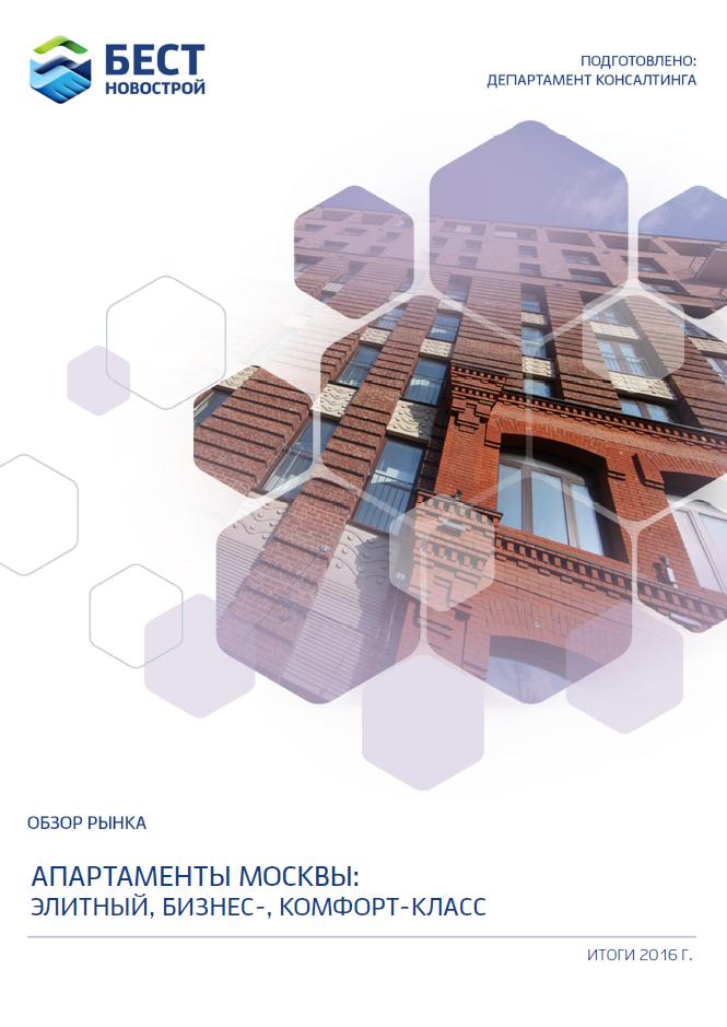 Аналитический обзор рынка. Апартаменты Москвы: элитный, бизнес-, комфорт-класс (итоги  2016)