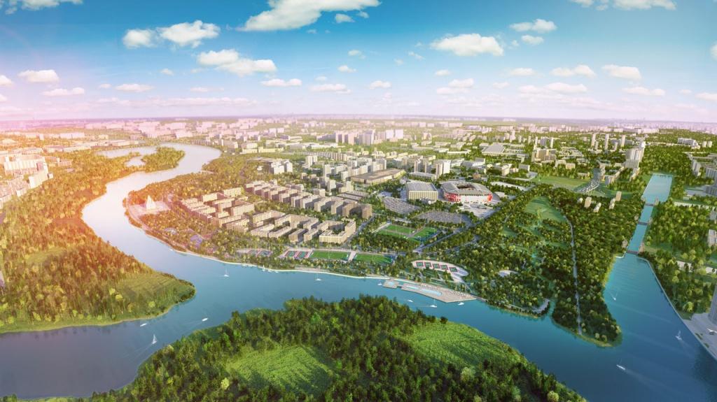 """Панорама ЖК """"Город на реке Тушино-2018"""""""